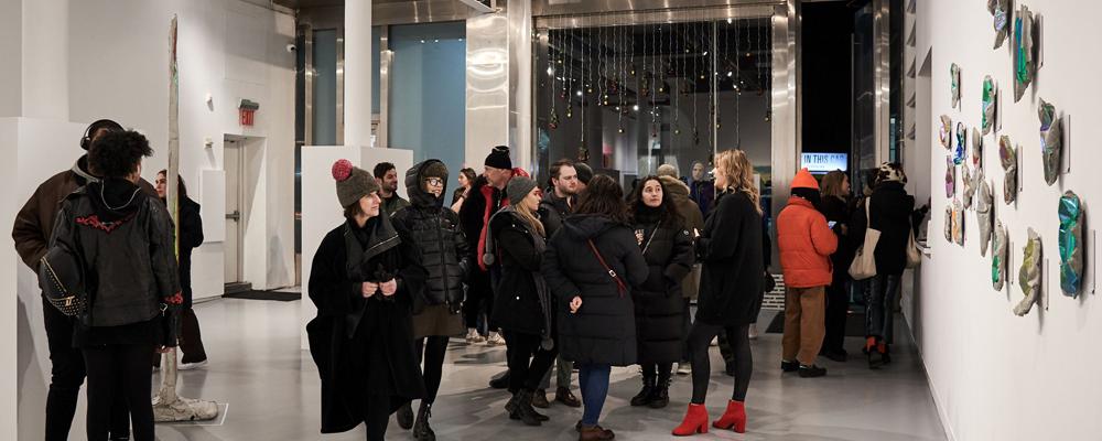 Vernissage per una mostra presso la Agora Gallery - White Space Chelsea - New York