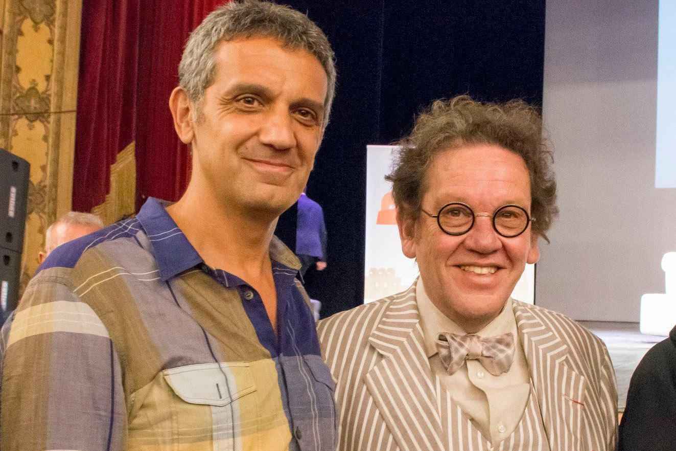 Nino Argentati (PitturiAmo) e Philippe Daverio al Primo Premio Internazionale Arte Palermo.