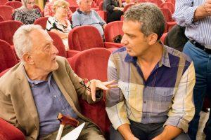 Nino Argentati, amministratore di PitturiAmo e autore di questo articolo dedicato alle truffe per artisti, con Paolo levi, critico internazionale d'arte