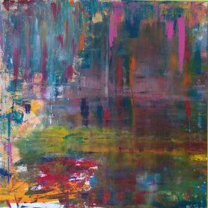Autunno al lago - Un quadro di Paolo Schiavon, artista partecipante alla mostra collettiva di pittori