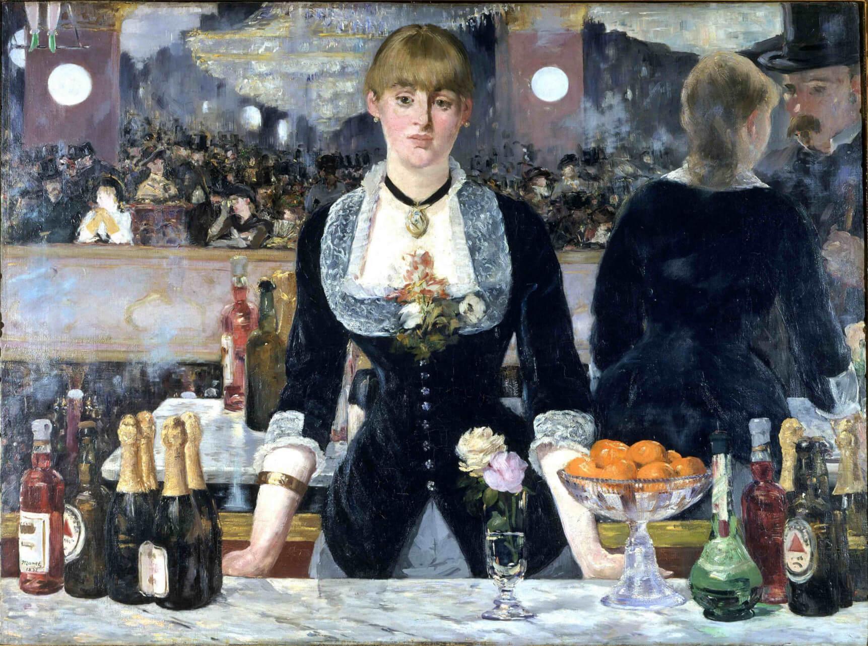 Il quadro Bar delle Folies Bergère di Edouard Manet è un 'opera d'arte di un pittore moderno.