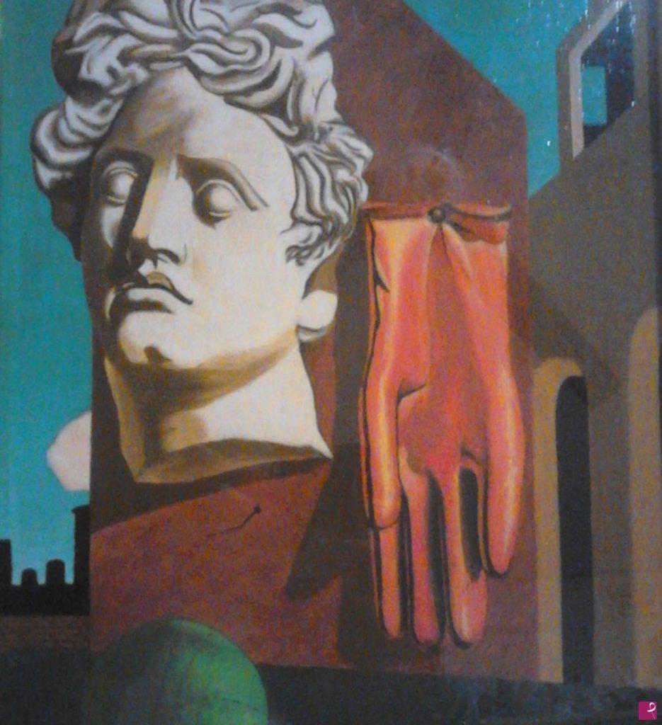 Falso d'autore del Canto d'amore di Giorgio De Chirico, realizzato dal pittore contemporaneo Massimo Sette