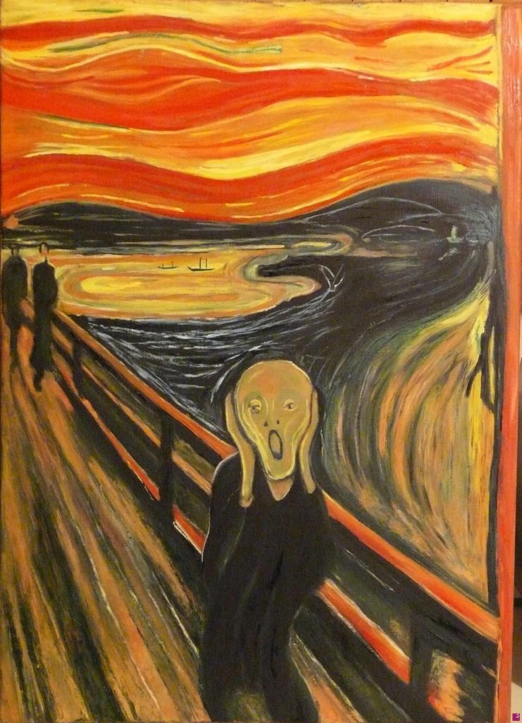 la pittrice contemporanea Francesca Rosati ha realizzato un Falso d'autore dell'Urlo di Munch
