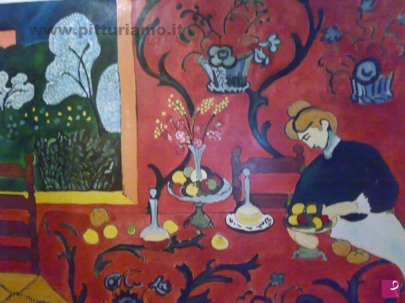 Il pittore contemporaneo Michele Repole ha realizzato un falso d'autore dal La stanza rossa di Henri Matisse