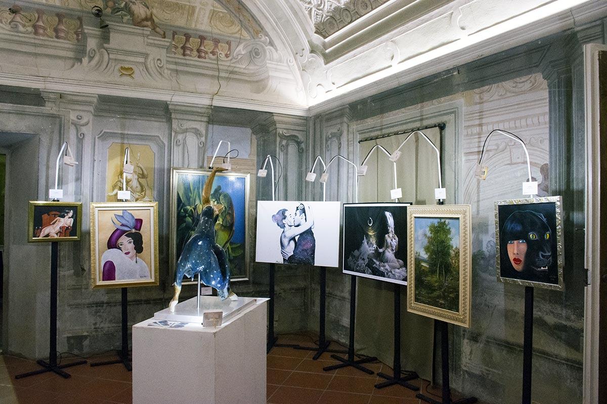 Esposizione al Primo Premio Internazionale PitturiAmo (palazzo Ximenes - Firenze)