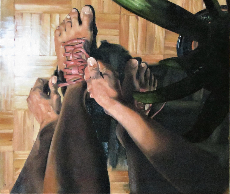 Giulio Calamandrei - Born to walk - olio su tela - 60x80 cm - quotazione € 500