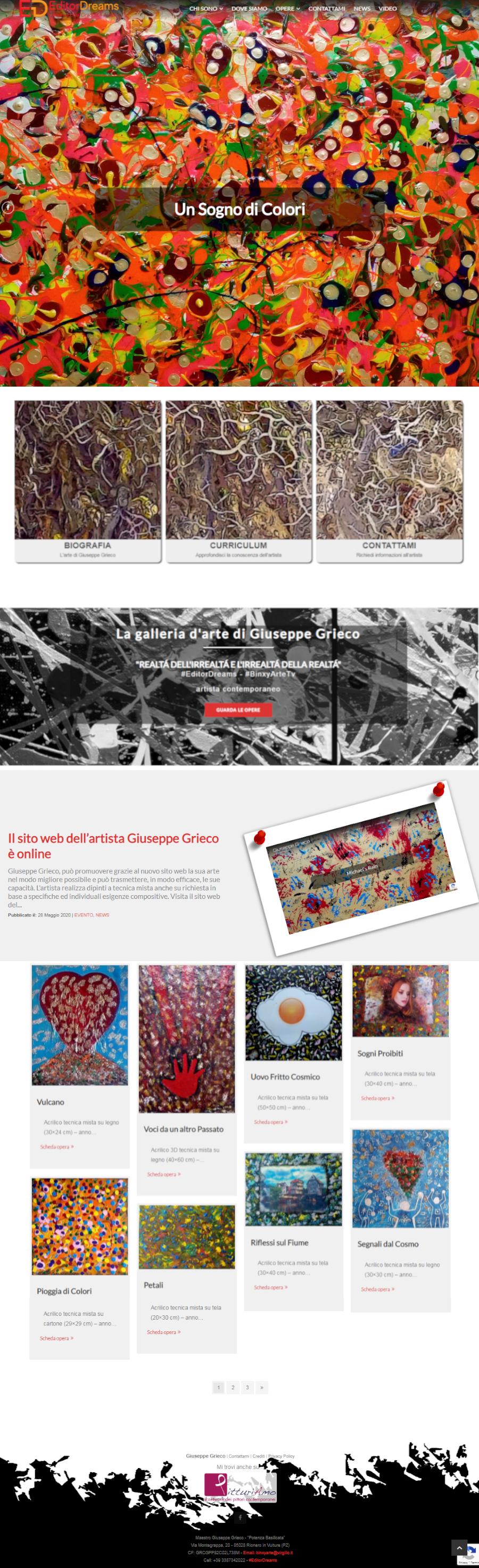 Sito web dell'artista Giuseppe Grieco - Homepage