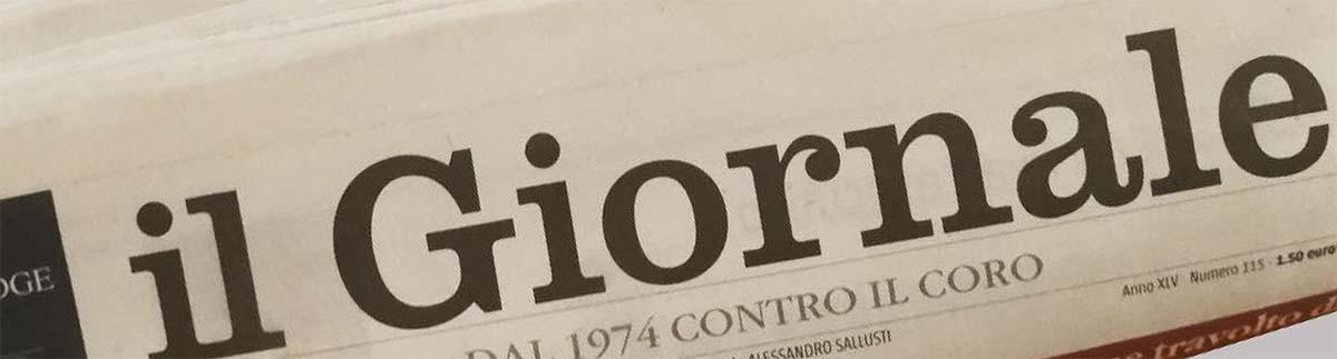 """La tua opera su un quotidiano nazionale """"Il Giornale"""""""