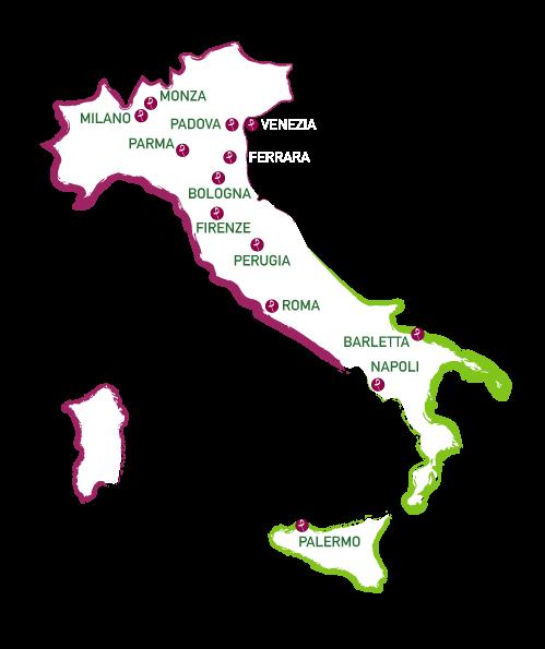 Sedi in Italia del premio Artista d'Italia