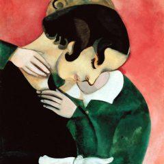 Gli amanti in rosa di Marc Chagall