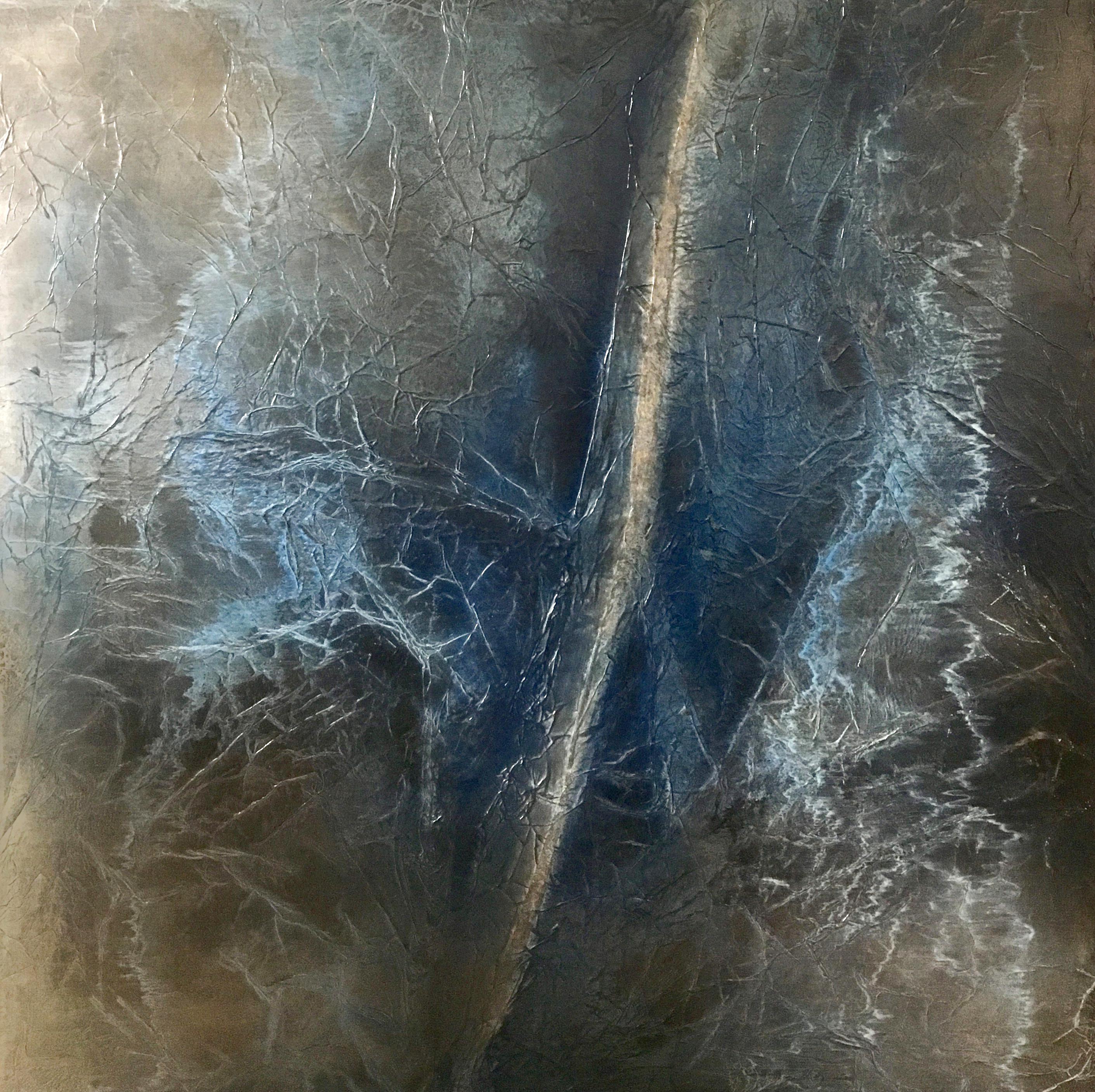 Michele Berlot - L'Ultimo approdo - tecnica mista su tela - 100x100 cm - anno 2016