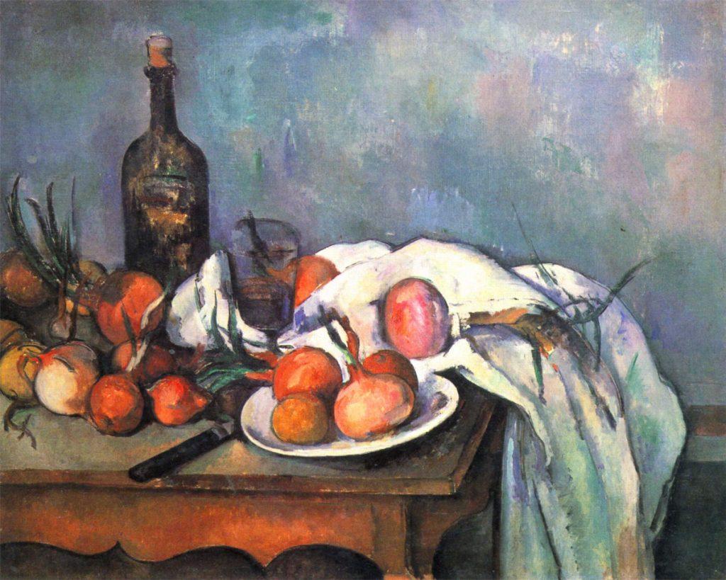 Paul Cezanne - Natura morta con cipolle