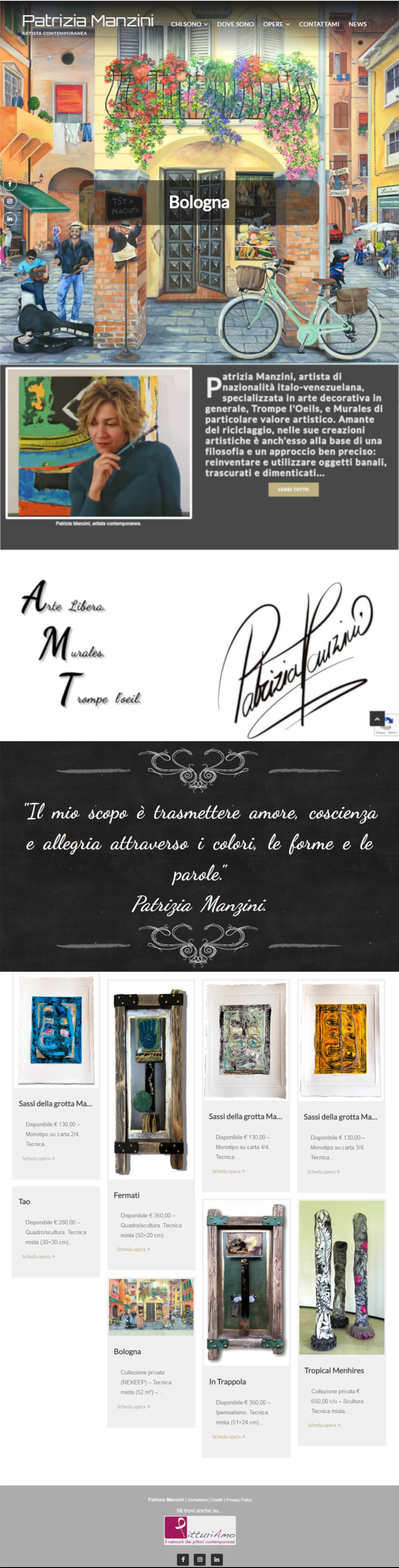 Patrizia Manzini - Il sito della pittrice è online - Homepage