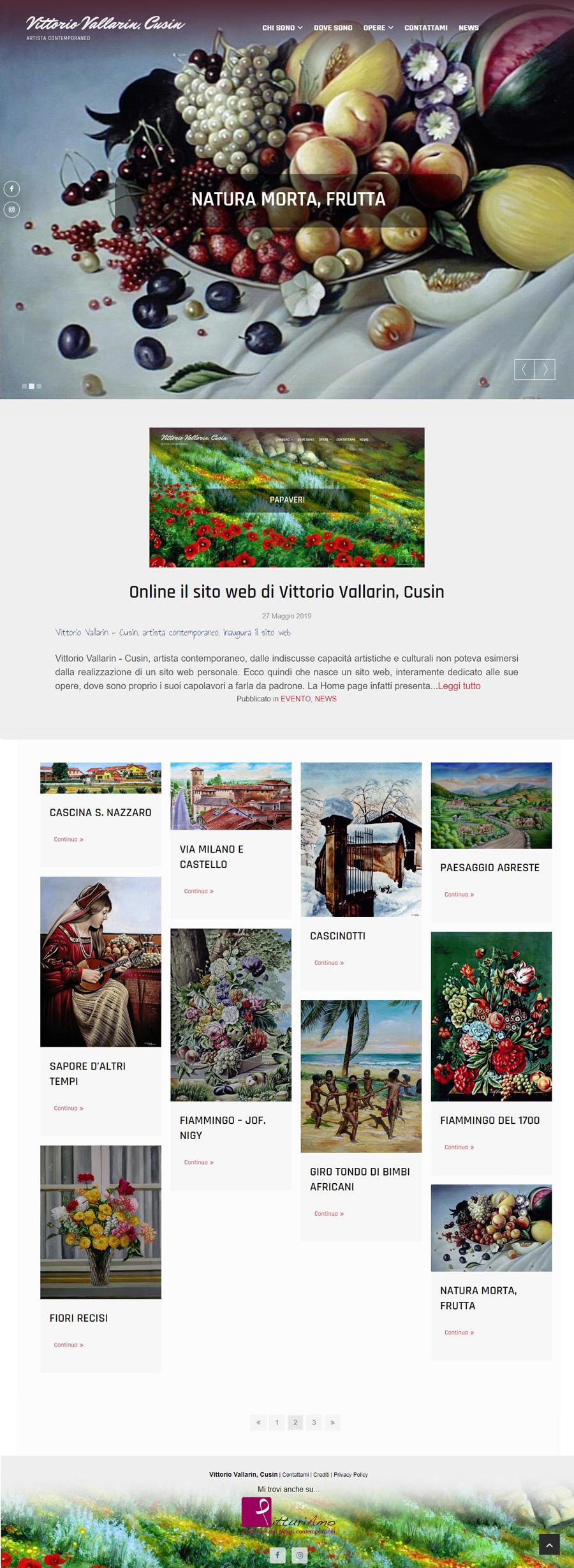 Il sito personale del pittore Vittorio Vallarin, in arte Cusin - Homepage