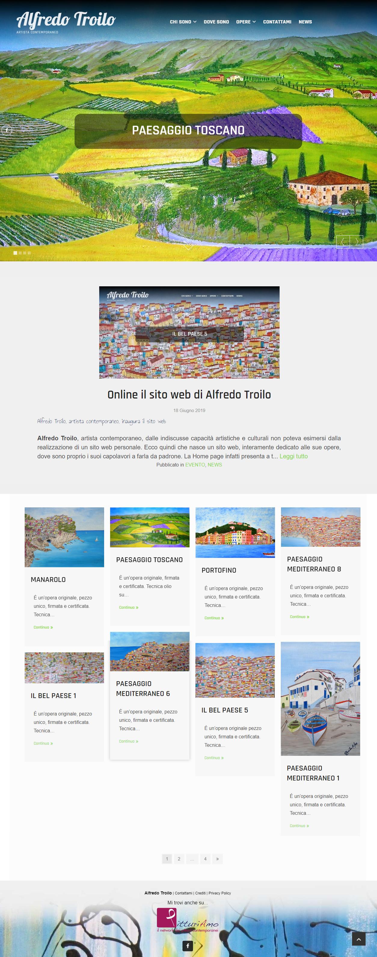 Il sito di pittura di Alfredo Troilo - Artista emergente italiano