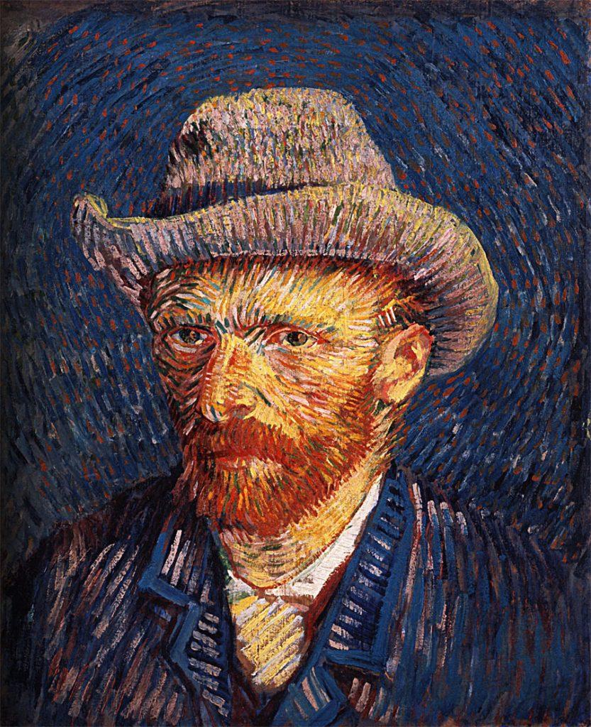 Vincent Van Gogh, autoritratto con cappello