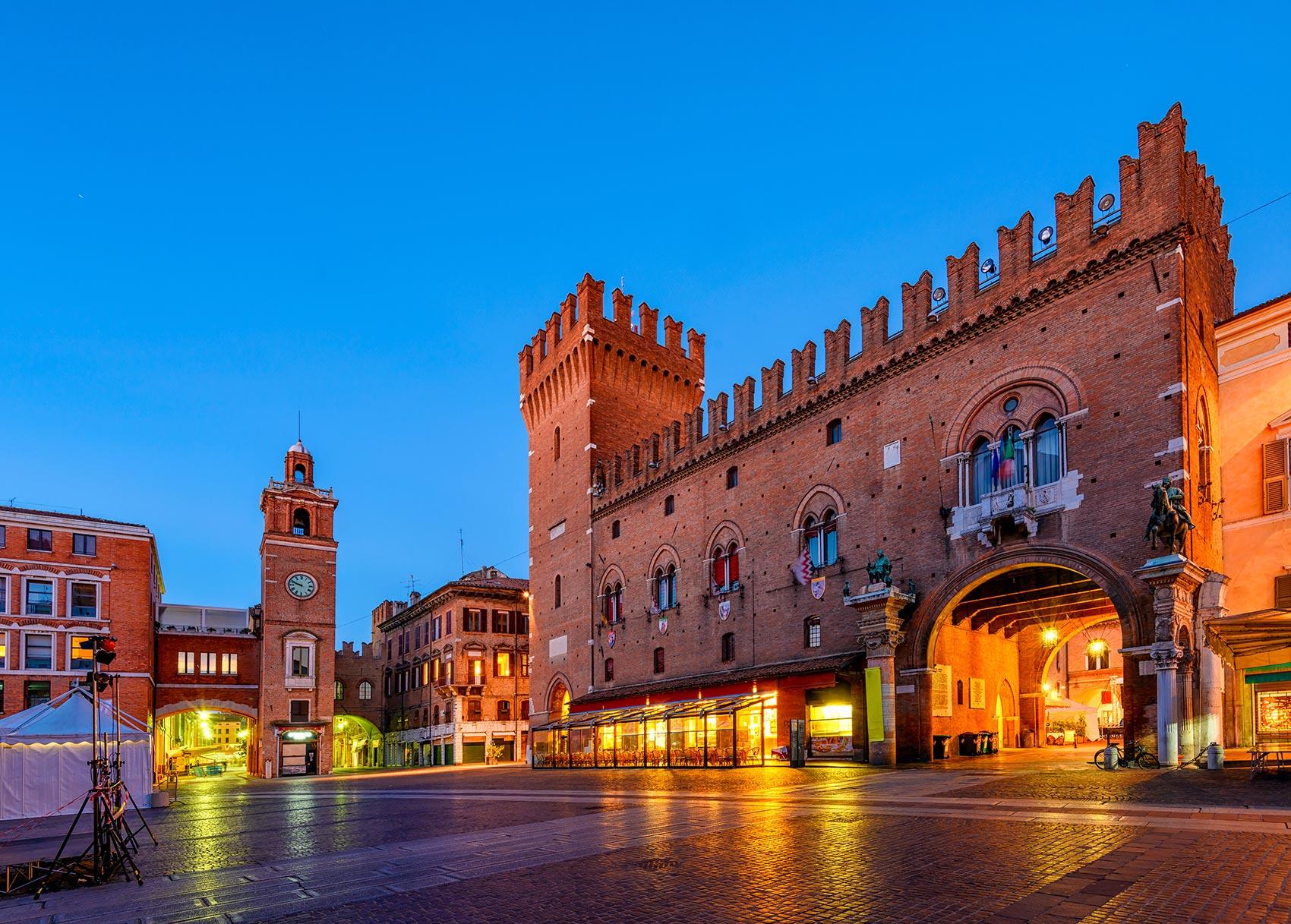 Centro storico di Ferrara, città natale di Vittorio Sgarbi