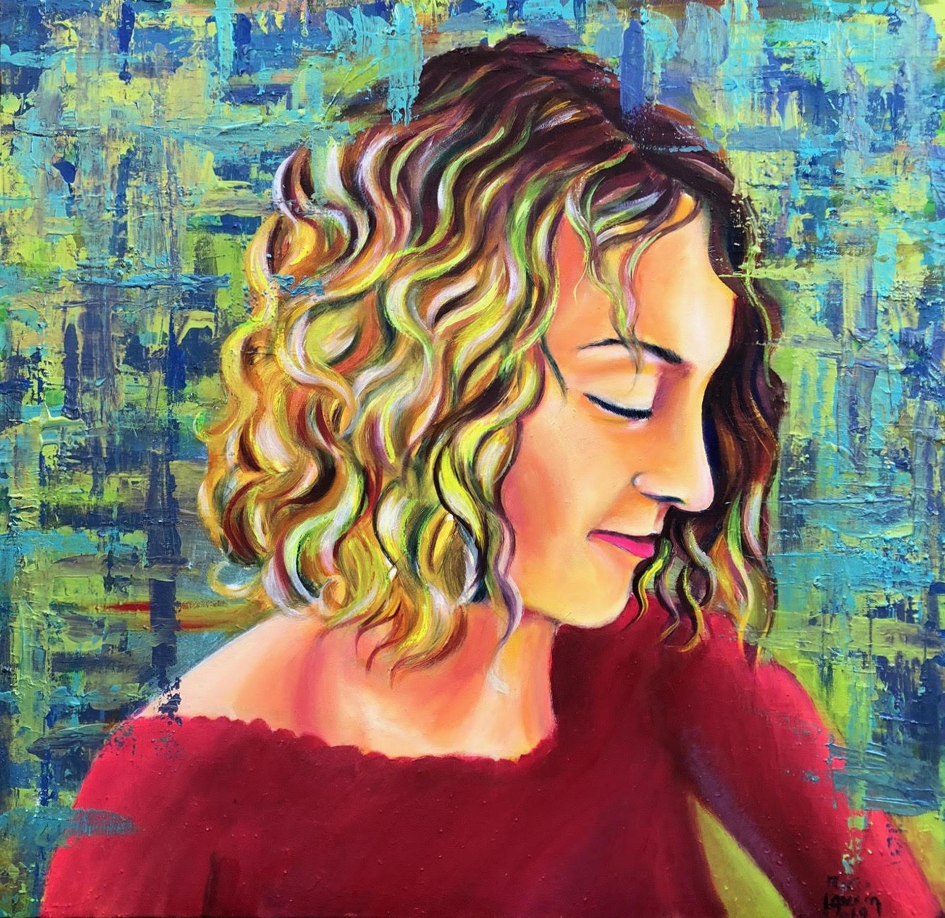 """""""Francesca"""" - Acrilici e olio su tela - in vendita sullo store per 600,00€, anno 2019"""