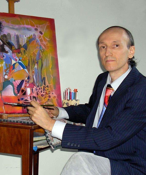 Franco Bulfarini è pittore oltre che critico e curatore d'arte