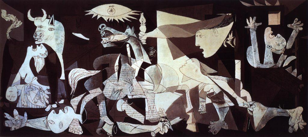 Guernica di Pablo Picasso rappresenta la tragica guerra civile spagnola