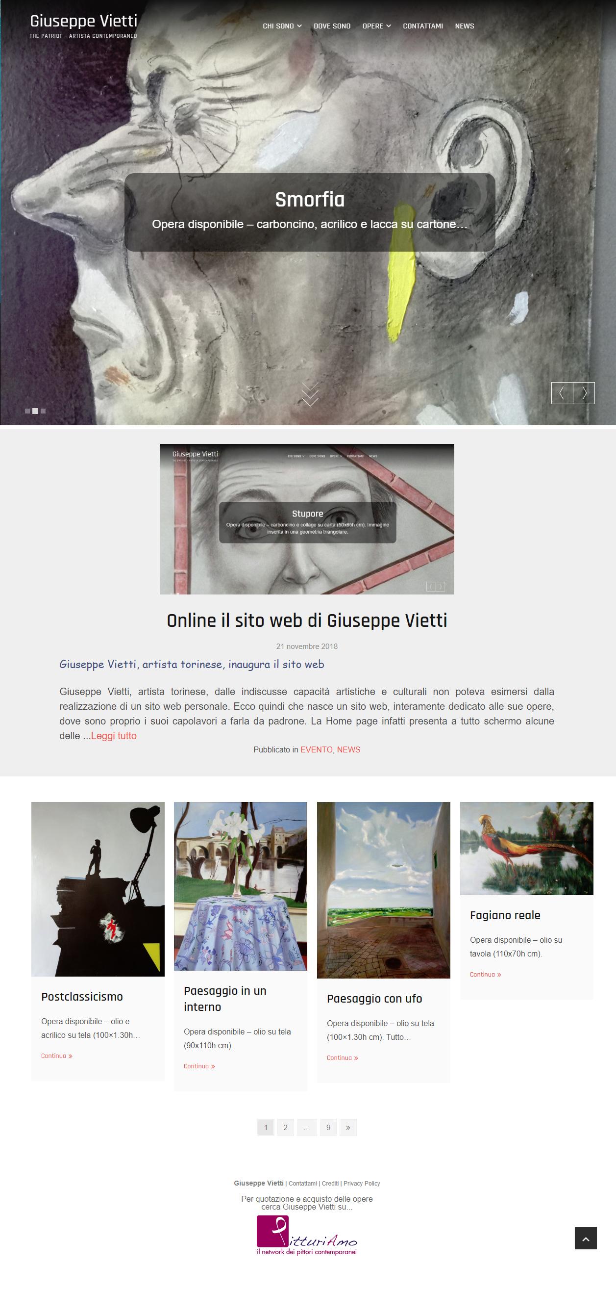 Homepage del sito di Giuseppe Vietti