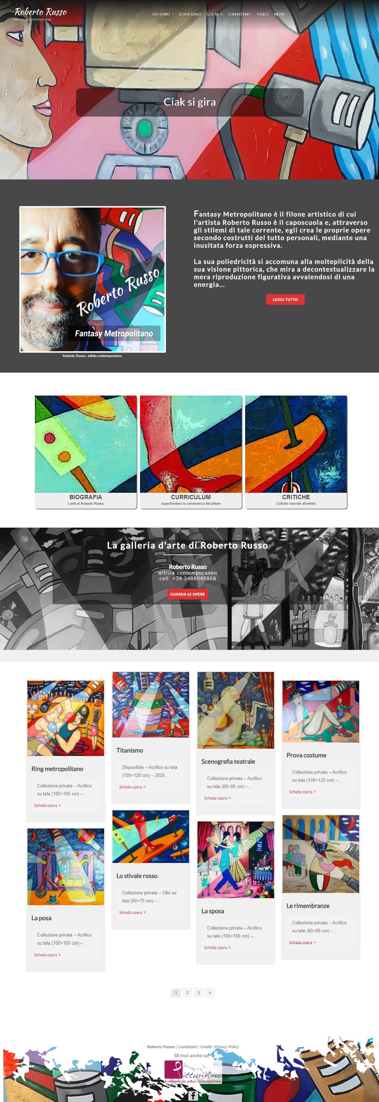 Il sitoweb del pittore di Roberto Russo è online - Homepage