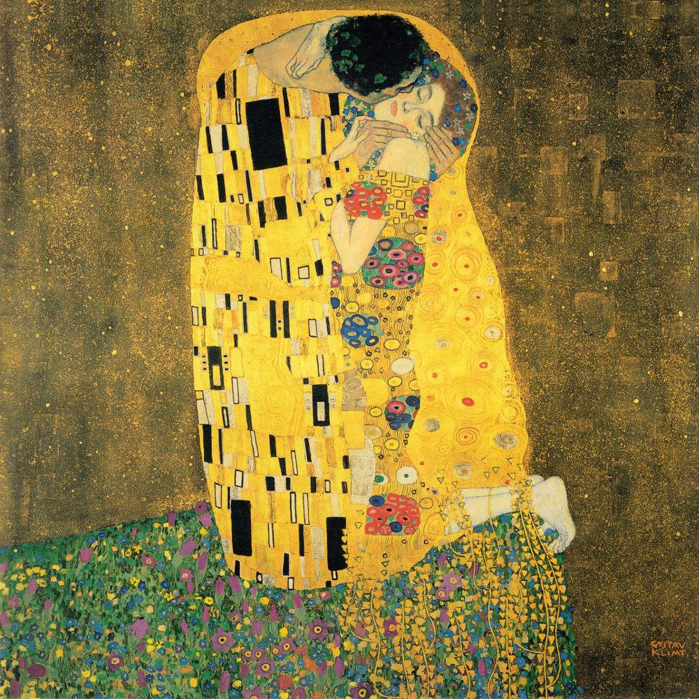 Nel Bacio di Gustav Klimt traspare la passione e l'eros che si fondono con un puro sentimento d'amore