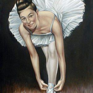 236VVC Ballerina - Olio su tela - 60x90cm