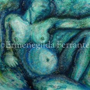 """Sito per l'artista Ermenegilda Ferrante """"Creazione di Eva"""" Tecnica mista su tela (80×100 cm)"""