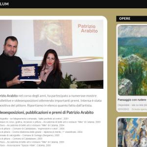 Nuovo sito dell'artista Patrizio Arabito - Curriculum