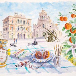Lo studio dell'Artista in Piazza Carafa