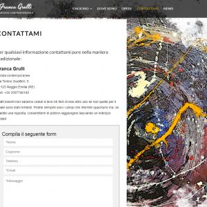 Il sito web dell'artista Franca Grulli - Contattami