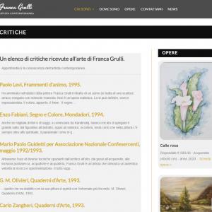 Il sito web dell'artista Franca Grulli - Critiche