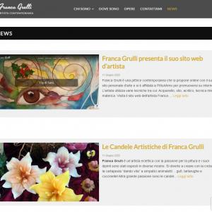 Il sito web dell'artista Franca Grulli - News
