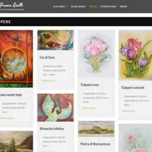 Il sito web dell'artista Franca Grulli - Opere