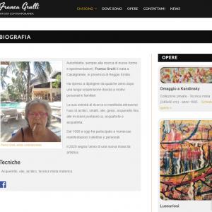 Il sito web dell'artista Franca Grulli - Biografia