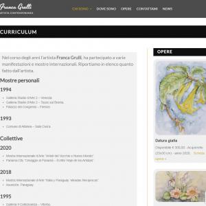 Il sito web dell'artista Franca Grulli - Curriculum