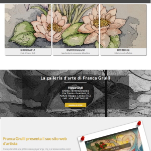 Il sito web dell'artista Franca Grulli - Homepage