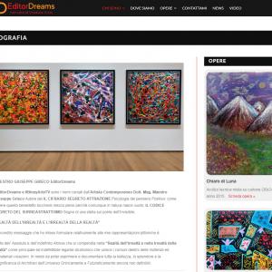Il sito web dell'artista Giuseppe Grieco, EditorDreams - Biografia