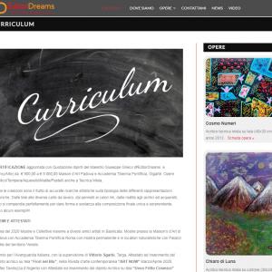 Il sito web dell'artista Giuseppe Grieco, EditorDreams