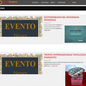 Il sito web dell'artista Giuseppe Grieco, EditorDreams - News