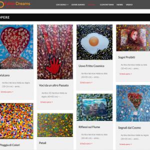 Il sito web dell'artista Giuseppe Grieco, EditorDreams - Opere