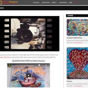 Il sito web dell'artista Giuseppe Grieco, EditorDreams - Video