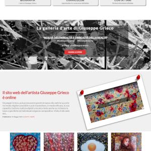 Il sito web dell'artista Giuseppe Grieco, EditorDreams - Homepage