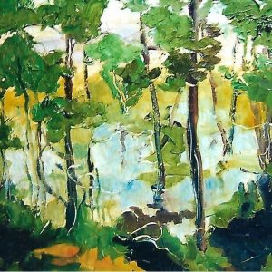 L'arte di Mario Fanconi - La quiete dopo la pioggia - 60x40cm - Olio su tavola di legno