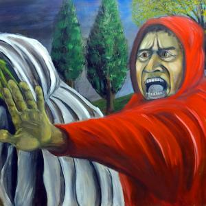 """Sito per l'artista Paolo Camporota """"Alter Ego"""" Olio su tela (100×140 cm)"""