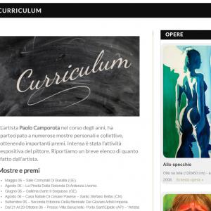 Sito per l'artista Paolo Camporota - Curriculum