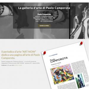 Sito per l'artista Paolo Camporota - Homepage