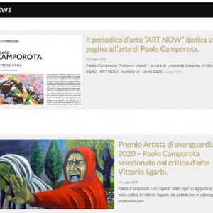 Sito per l'artista Paolo Camporota - News