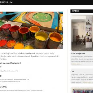 Patrizia Manzini - Il sito della pittrice è online - Curriculum